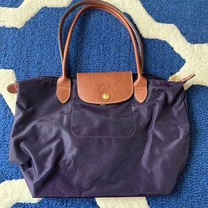 Longchamp small tote - bilberry
